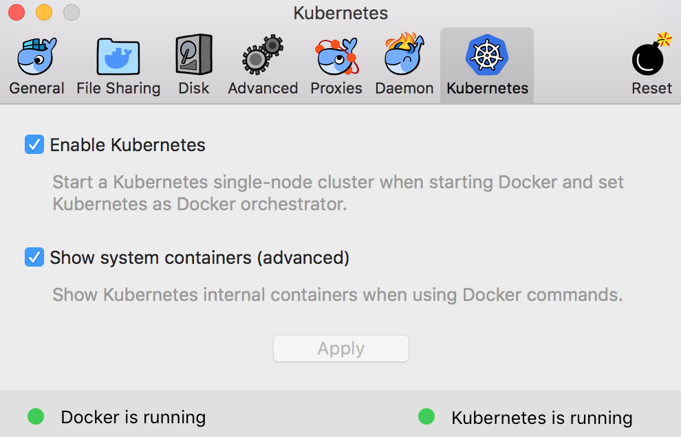 Docker for Mac with Kubernetes support